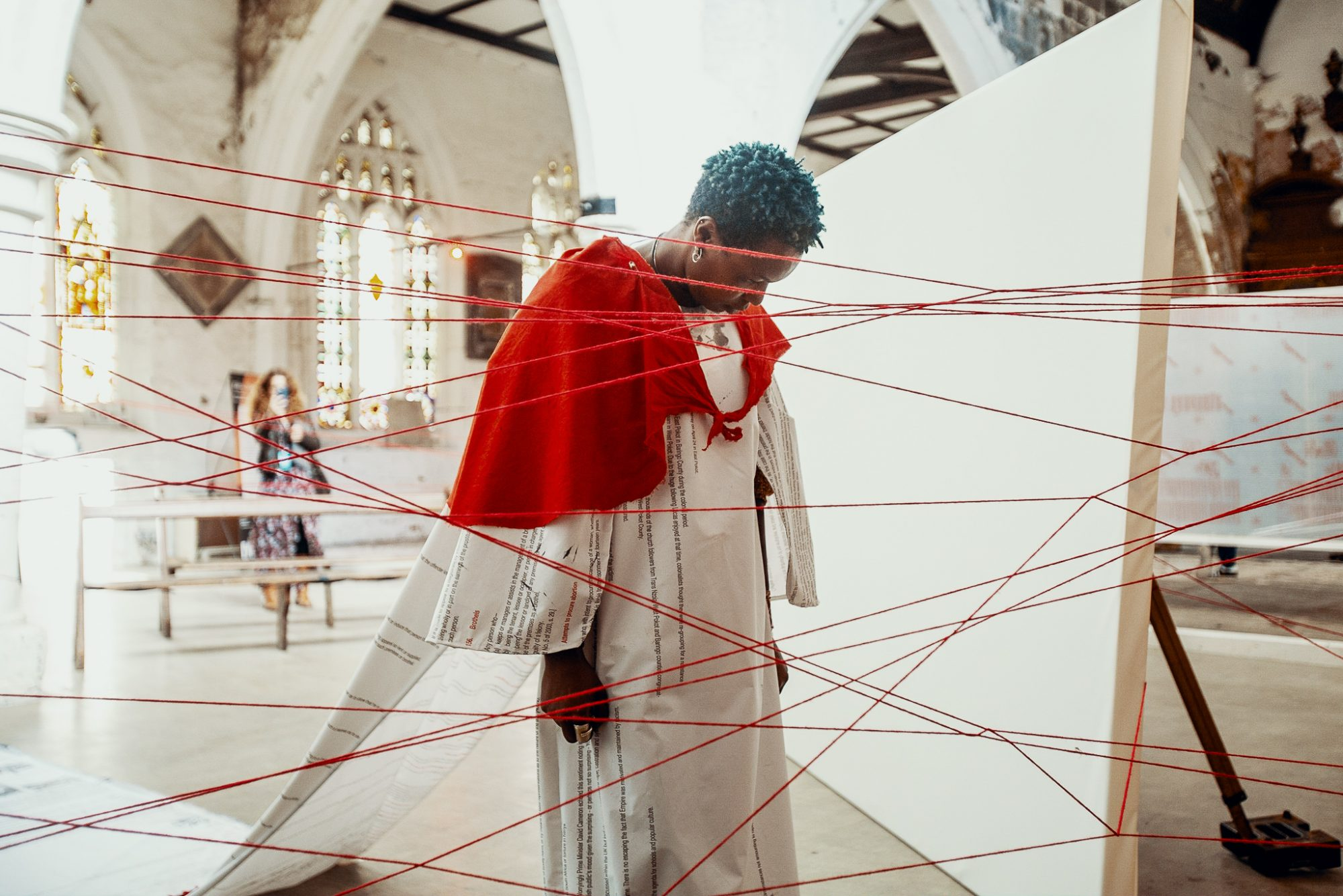 Neo Sinoxolo Musangi performing The Way of the Cross for Still We Rise © York Mediale