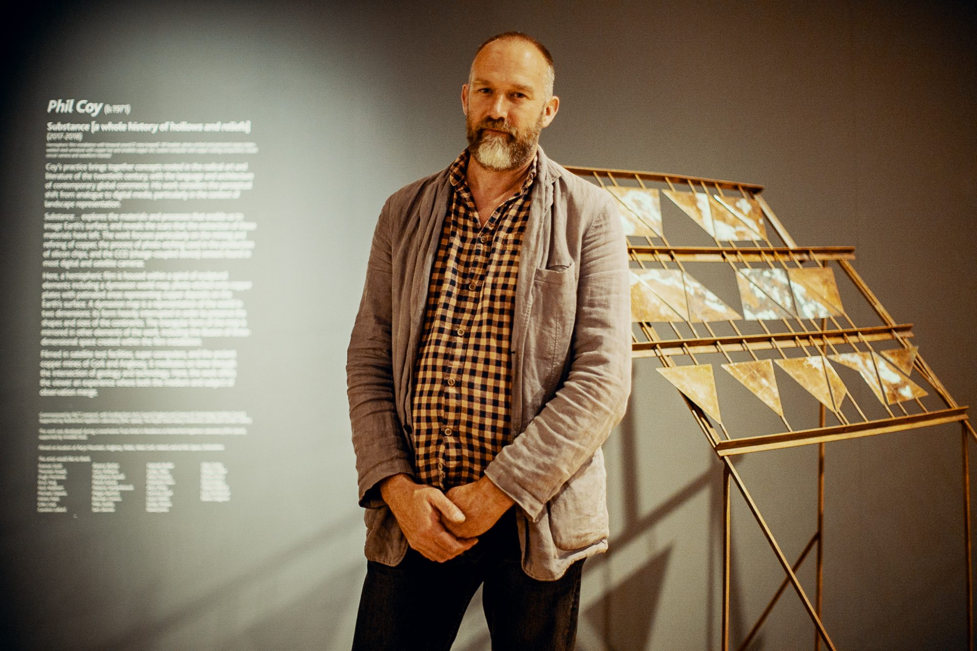 Phil Coy at the launch of Strata-Rock-Dust-Stars for York Mediale 2018 © York Mediale
