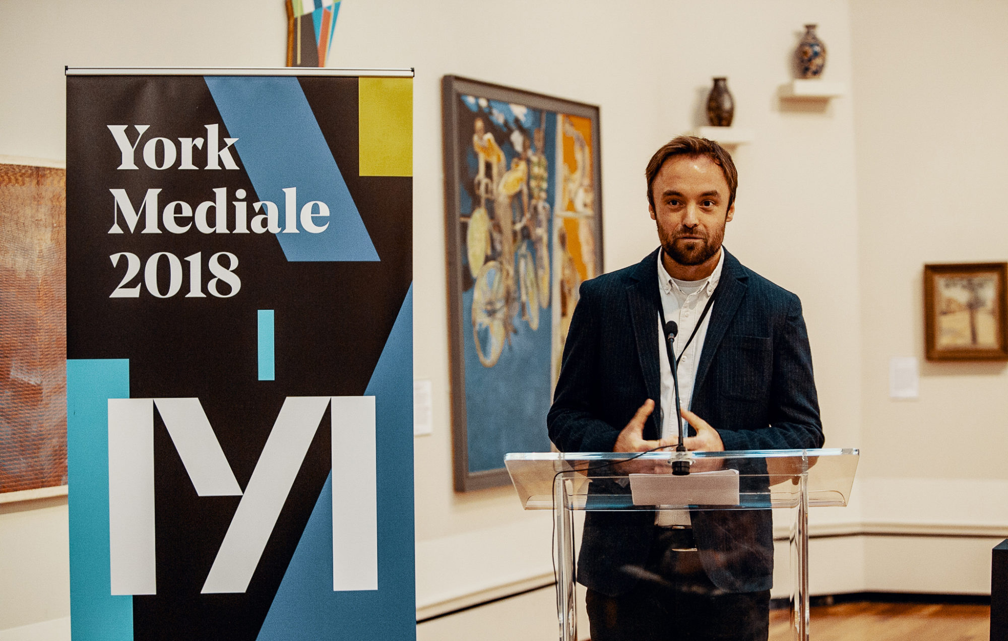 Tom Higham at the launch of 2018 festival © York Mediale