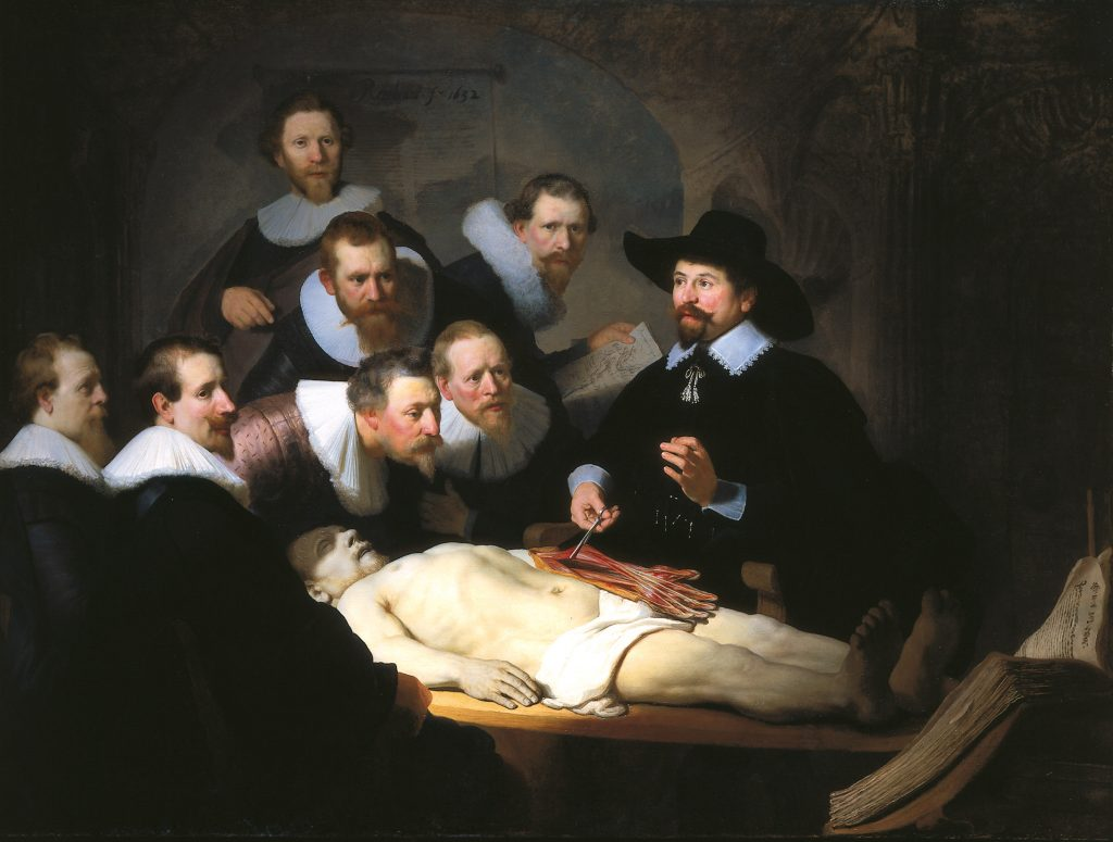 The Anatomy Lesson of Dr Nicolaes Tulp; Rembrandt