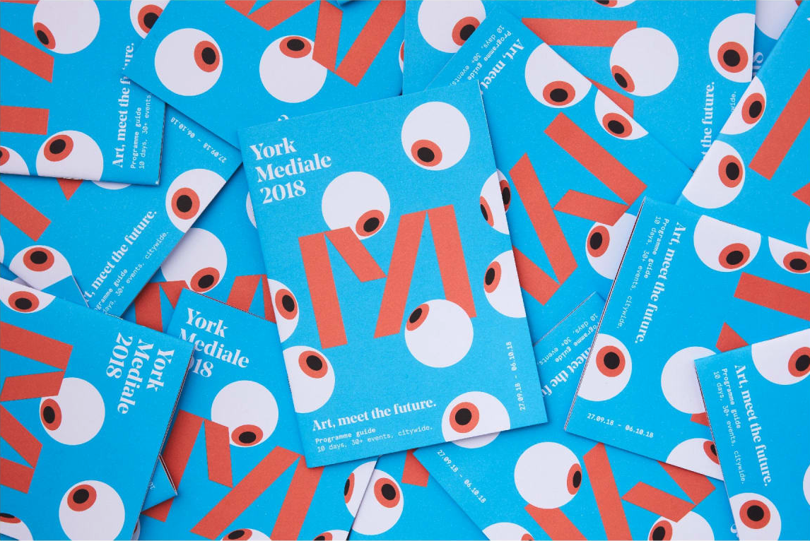 York Mediale 2018 festival guide designed by Something More Design