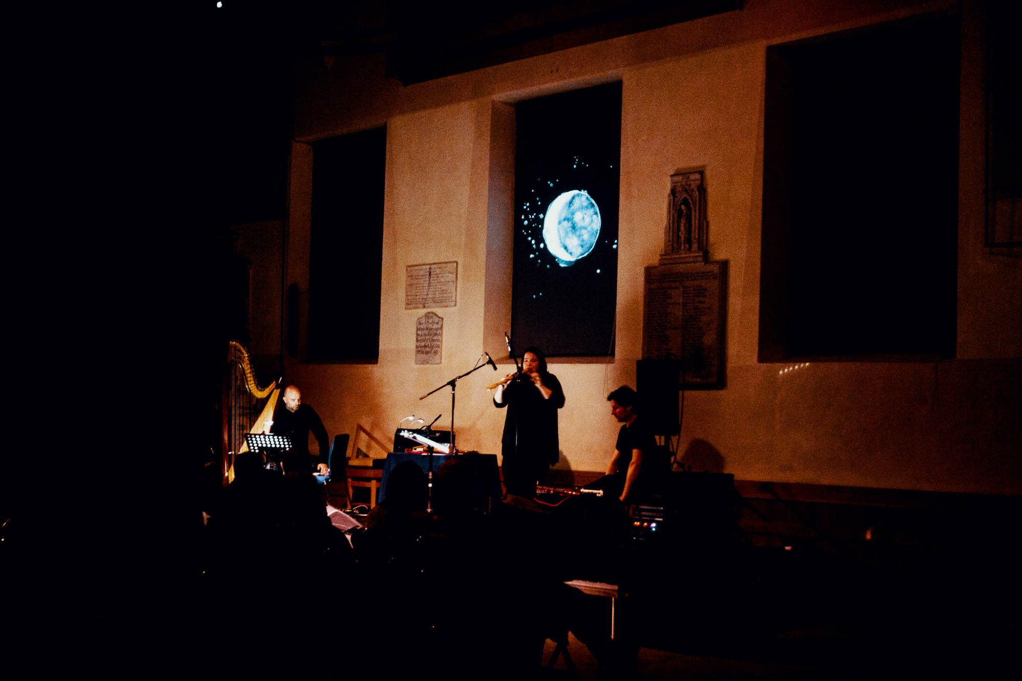 Laura Cannell on double recorder for The Untuning of the Sky © York Mediale