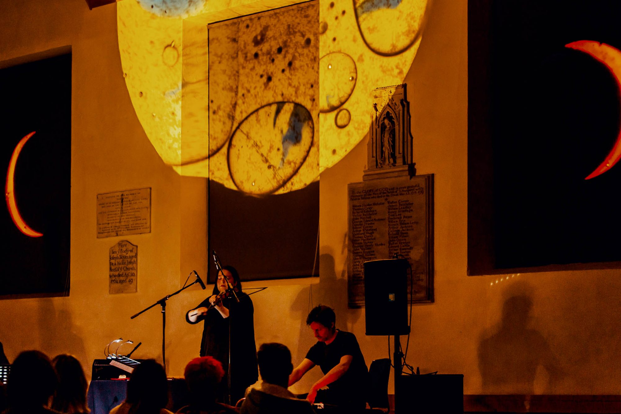 Laura Cannell on violin for The Untuning of the Sky © York Mediale