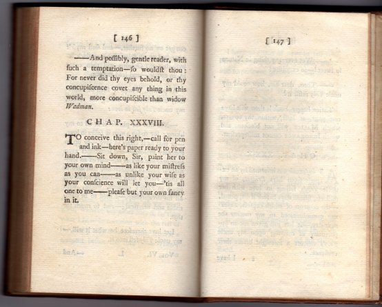The Life and Opinions of Tristram Shandy, Gentleman, vol VI, p. 147